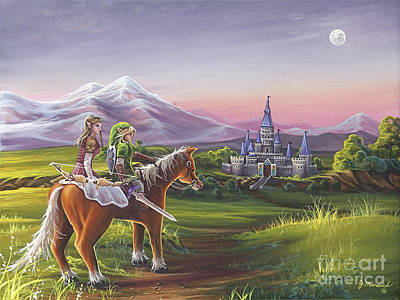 Castle Painting - Returning Home by Joe Mandrick