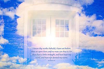 Scripture Photograph - Revelation 3 V 8 by Debbie Nobile