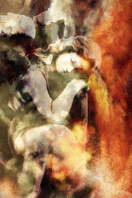 Revelation Mixed Media - Revelation Vintage Abstract Realism by Georgiana Romanovna