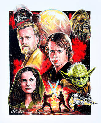 Revenge Of The Sith Print by Andrew Read