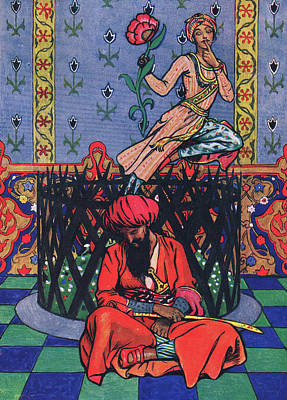 North Drawing - Reverie Of Ormuz The Persian by John Byam Liston Shaw