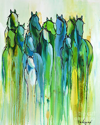 Wild Horse Painting - Revive by Cher Devereaux