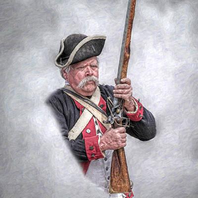 Concord Digital Art - Revolutionary War American Soldier by Randy Steele