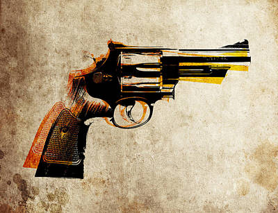 Bullet Digital Art - Revolver by Michael Tompsett