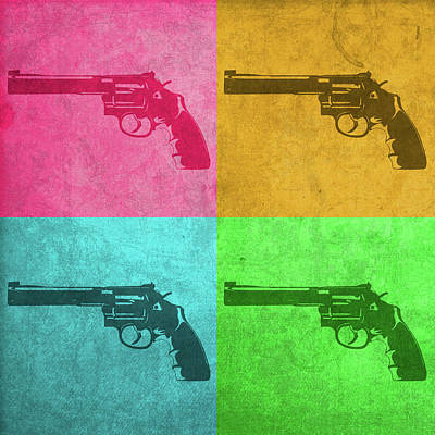 Revolver Vintage Pop Art Print by Design Turnpike