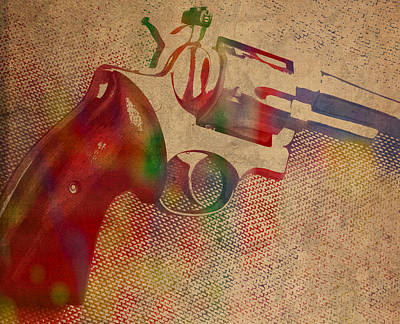 Revolver Watercolor Art Number 3 Print by Design Turnpike