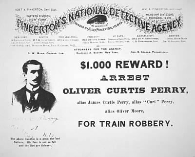 Reward Poster For The Arrest Of Oliver Perry Issued  Print by American School