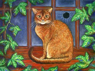 Barn Painting - Rex The Cat by Linda Mears