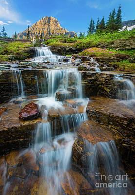 Reynolds Mountain Waterfall Print by Inge Johnsson