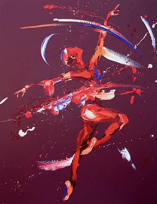 Free Painting - Rhapsody by Penny Warden