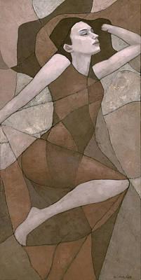 Art Nouveau Mixed Media - Rhea by Steve Mitchell