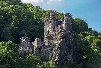 Rheinstein Castle Print by Teresa Mucha