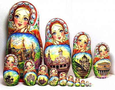 Matryoshka Sculpture - Rhinestones Of Moscow by Viktoriya Sirris