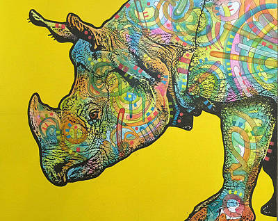 Painting - Rhino by Dean Russo