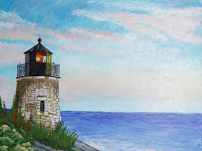 Painting - Rhode Island Lighthouse by Pamela Anderson