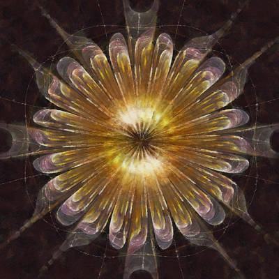 Merging Painting - Rhyotaxitic Tissue Flower  Id 16163-143750-05970 by S Lurk
