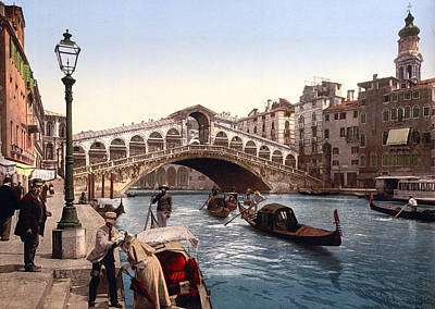 Rialto Bridge Photograph - Rialto Bridge, Venice, Italy by Italian School