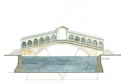 Rialto Bridge Venice Original by Juan Bosco