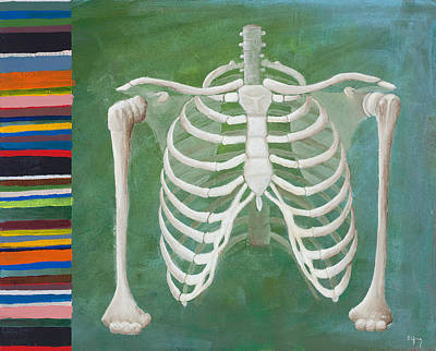 Skeleton Painting - Ribbing  by Sara Young