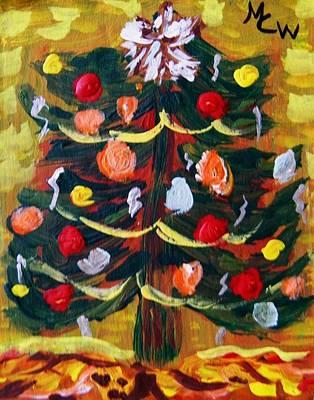 Joyful Drawing - Ribbon Garland by Mary Carol Williams