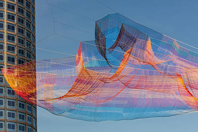 Aerials Photograph - Ribbons In The Sky Over Boston by Susan Candelario