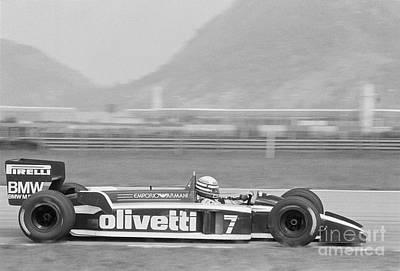 Olivetti Photograph - Riccardo Patrese. 1986 Brazilian Grand Prix by Oleg Konin
