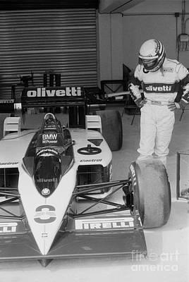 Olivetti Photograph - Riccardo Patrese. 1986 Spanish Grand Prix by Oleg Konin