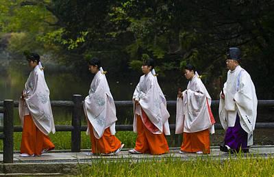 Photograph - Rice Harvest Ceremony by Kobby Dagan