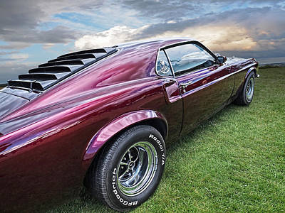 Mach I Photograph - Rich Cherry - '69 Mustang by Gill Billington