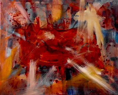 Visceral Mixed Media - Rojos, Reds, Rouge by Pearse Gilmore
