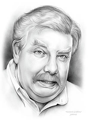 Harry Potter Drawing - Richard Griffiths by Greg Joens