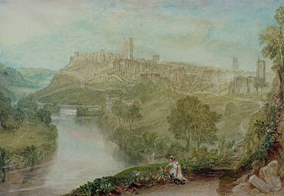 On Paper Painting - Richmond In Yorkshire by Joseph Mallord William Turner