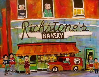 Litvack Painting - Richstone's Bakery Ndg by Michael Litvack