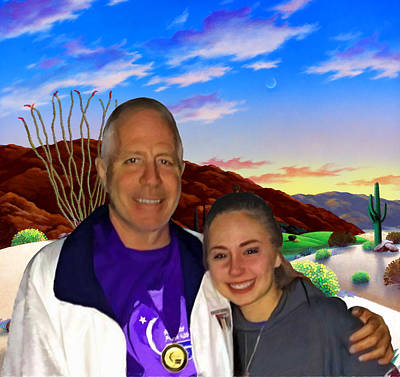 Landscape Painting - Rick And Danielle by Snake Jagger