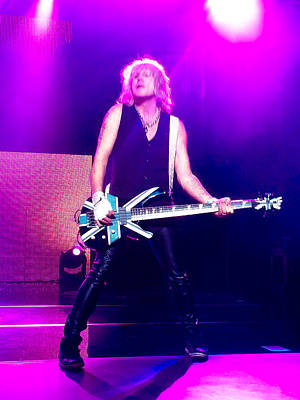 Def Leppard Photograph - Rick Savage Of Def Leppard by David Patterson