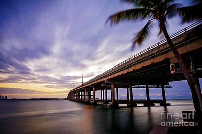 Photograph - Rickenbacker Causeway Before Sunrise by Eyzen Medina