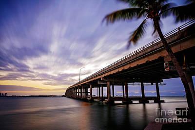 Miami Photograph - Rickenbacker Causeway Before Sunrise by Eyzen M Kim