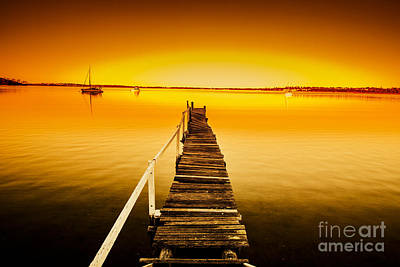Rickety Bridge Photograph - Rickety Pier Sunset by Jorgo Photography - Wall Art Gallery