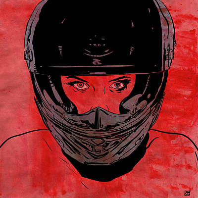 Motorcycle Drawing - Ride by Giuseppe Cristiano