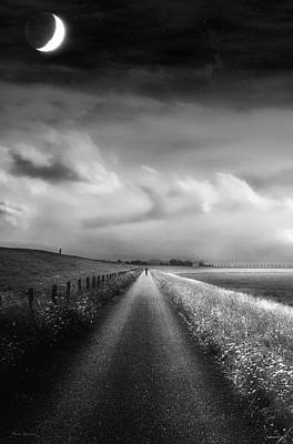 Travelling Art Digital Art - Ride The Moonlight by Wim Lanclus