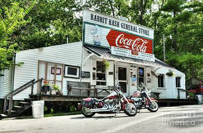 Coca-cola Sign Photograph - Ride To Rabbit Hash by Mel Steinhauer