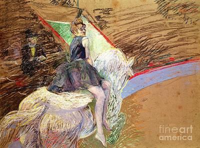 Rider On A White Horse Print by Henri de Toulouse Lautrec