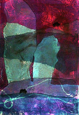 Megalith Painting - Ridgeway Abstract by Marie Allen