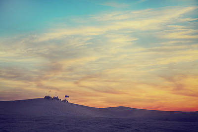 Pink Clouds Photograph - Riding Into The Sunset by Laurie Search