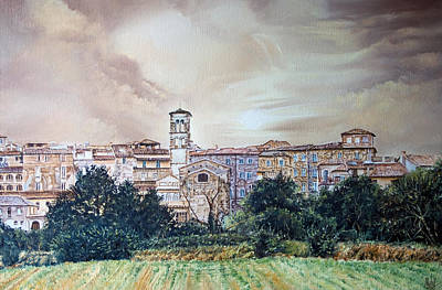 Rieti Panoramic Print by Michel Angelo Rossi