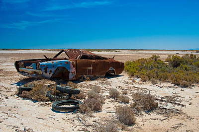 Wrecked Cars Photograph - Rifle Range by Tim Nichols