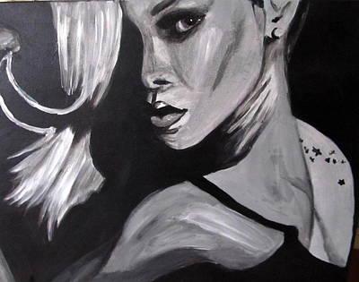 Rihanna Painting - Rihanna by Angel Love