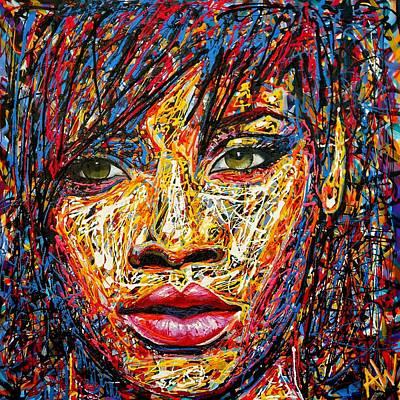 Rihanna Painting - Rihanna by Angie Wright