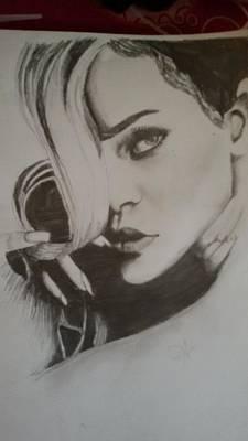 Rihanna Painting - Rihanna by Anika Manchanda