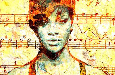 Rihanna Digital Art - Rihanna by Chandler  Douglas